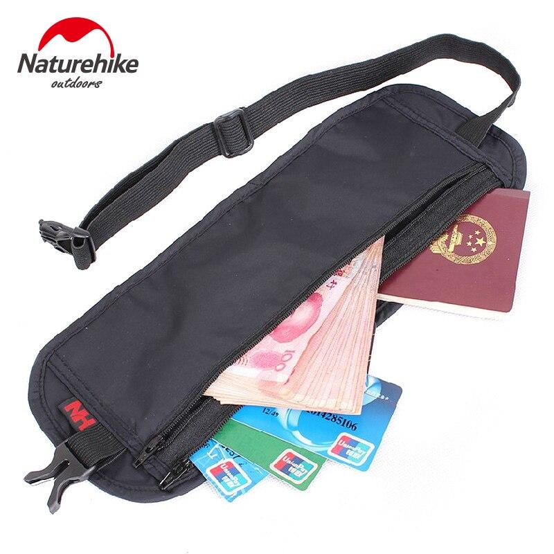 NatureHike Nylon Ultra-Slim Travel Outdoor Sport Anti-Theft License BagPacks Black Grey Hiking Running