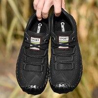 Для мужчин кожаные повседневные Мокасины мужские лоферы Элитный бренд новые весенние модные кроссовки мужские водонепроницаемые Туфли за...