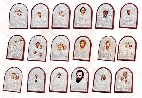 3vnt / rinkinys skirtingo dydžio ortodoksų piktogramų paveikslas: - Namų dekoras - Nuotrauka 4