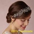 Lindo Cristal De Noiva Casamento Tiara De Strass Headbands Acessórios Para o Cabelo tiaras de Noiva Noiva Headbands Fita RE597