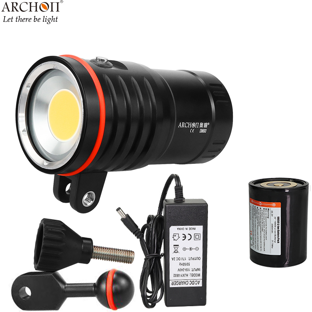ARCHON DM60 COB Diving Video Light max 12 000 Lumens Underwater photography spot light diving light