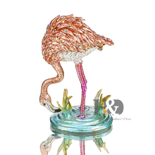 Bejeweled Pink Flamingos Trinket Box Crystal Jeweled Keepsake Box Ornament Rhinestone Necklace Jewelry Storage Container