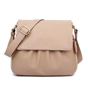 Image 2 - 高品質本革女性のハンドバッグカジュアル女性のショルダーバッグ女性のメッセンジャークロスボディバッグ旅行バッグ送料無料