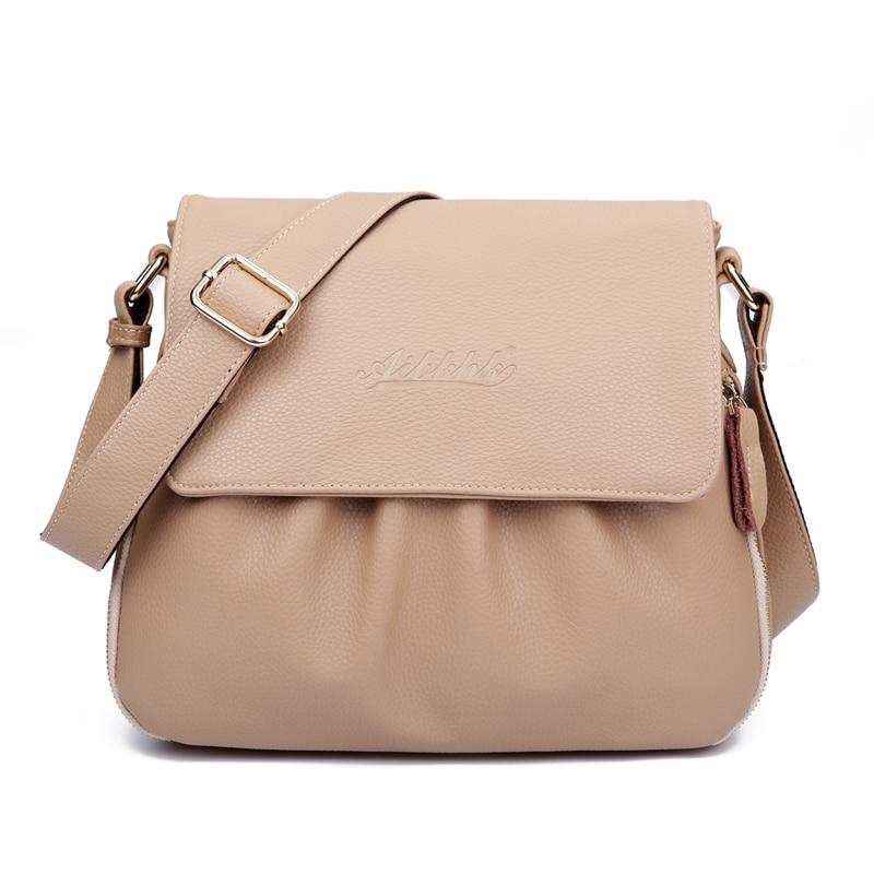 Image 2 - High Quality Genuine Leather Womens Handbags Casual Female  Shoulder Bags Women Messenger Crossbody Bag Travel Bag Free Shippingbag  boutiquebag motorbikebag bead