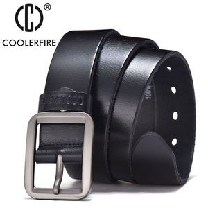 Image 4 - Luxury belt mens belts pronged buckle mans genuine leather strap for jean high quality wide brown color fashion JTC012
