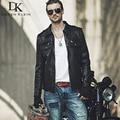 Genuine sheepskin leather jackets 2015 Brand Dusen Klein men slim Designer spring  Black leather clothing DK056