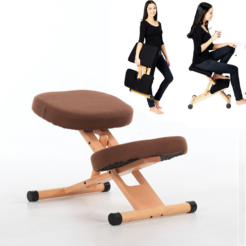 Ergonomic Kneeling Chair Stool Wood Office Computer Posture Support Furniture Ergonomic Wooden Chair Balancing Body Back Pain