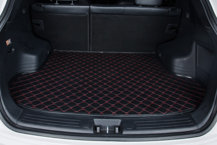 Myfmat new trunk mat car cargo liner pad leather customize for Cadillac CTS CT6 SRX DeVille Escalade SLS ATS-L/XTS free shipping