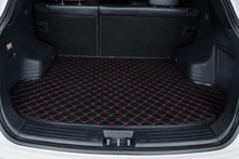 цена на auto trunk mat car cargo liner pad pu leather customize for Cadillac CTS CT6 SRX DeVille Escalade SLS ATS-L/XTS free shipping