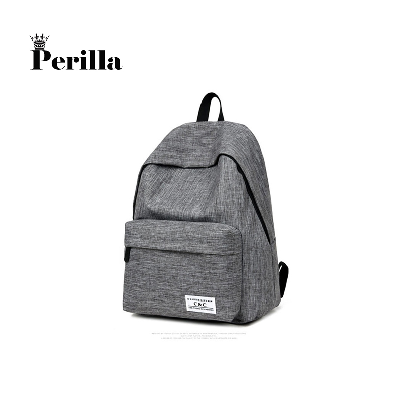 Perilla Brand Canvas Men Women Backpack College  School Bags For Teenager Boy Girls Laptop Travel Backpacks Mochila Rucksacks brand canvas men women backpack college high middle school bags for teenager boy girls laptop travel backpacks mochila rucksacks