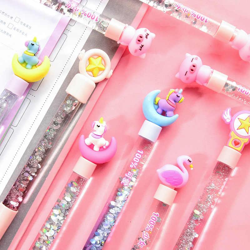 Cute Cartoon Flamingo Gel Pen 0.5mm Black Ink Pens Student School Supply Gift