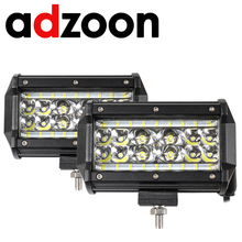 цена на ADZOON Offroad 5INCH 72W LED WORK LIGHT BAR FLOOD LIGHT 12V 24V CAR TRUCK SUV BOAT 4X4 4WD TRAILER WAGON PICKUP DRIVING LED LAMP