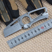High Quality DPX Multipurpose Fixed Knife CPM S35VN Stone Polished Blade 61HRC Outdoor Survival Camping Hunting Knives