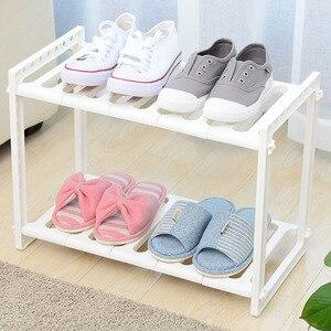 Image 4 - Adjustable Kitchen Storage Shelf Cupboard Organizer Spice Rack Bathroom Accessories Space Saving Shoe Rack Holders Book Shelves