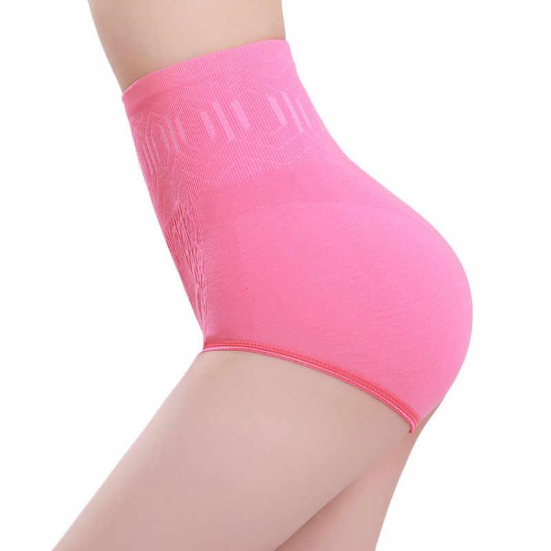 Nova chegada das mulheres sexy cintura alta barriga controle shaper corpo emagrecimento calças lingerie feminino roupa interior calzones mujer algodon 0.6