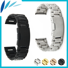 Stainless Steel Watch Band 20mm 22mm for Seiko Watchband Strap Wrist Loop Belt Bracelet Black Gold
