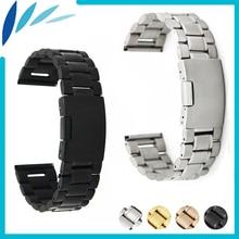 Acier inoxydable Bande de Montre 20mm 22mm pour Seiko Bracelet Bracelet Poignet boucle Ceinture Bracelet Noir Or Argent + Printemps Bar + Outil