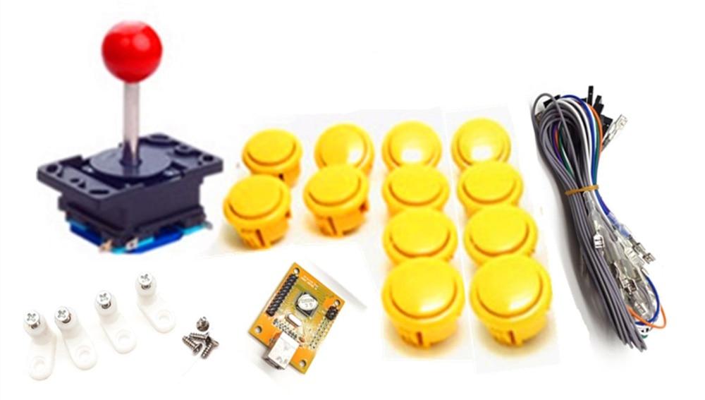 1 komplektas vieno žaidėjo PC PS / 3 2 IN 1 Arcade į USB valdiklį MAME Multicade Keyboard Encoder, USB į Jamma, žaidimo valdiklis