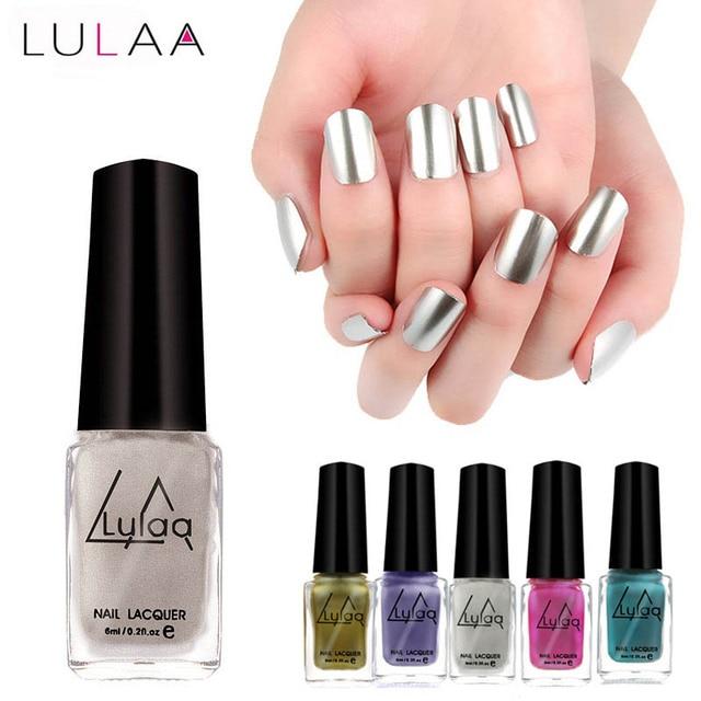 1 unids 6 ml metálico Esmaltes de uñas espejo efecto metal brillante ...