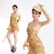 Oferta specjalna kobiety nowości tanie seksowna sukienka latynoska latin salsa sukienki cekinowa spódnica fringe łaciński kostium taneczny Professional