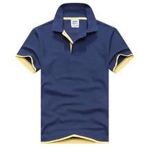 c96562e50 2019 رجل قمصان بولو الرجال Desiger بولو الرجال القطن قصيرة الأكمام قميص  الملابس الفانيلة جولف تنس بولو كبير حجم 3XL الصلبة
