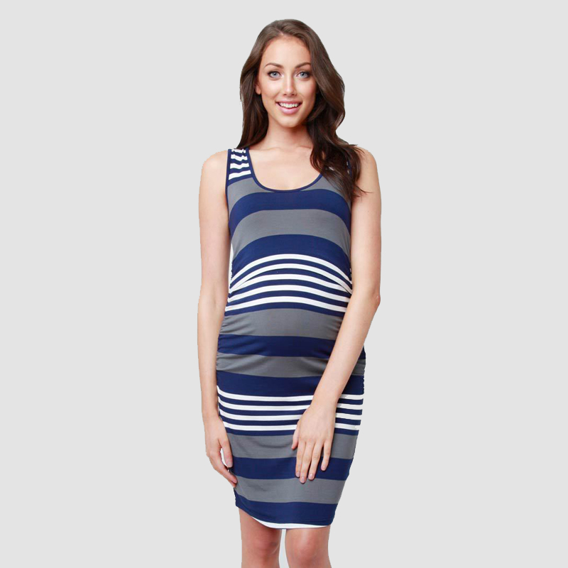 Maternity Clothes Striped Dress Pregnant Women Feeding Clothes Sleeveless Pregnancy Dress Premama Fashion Outfits