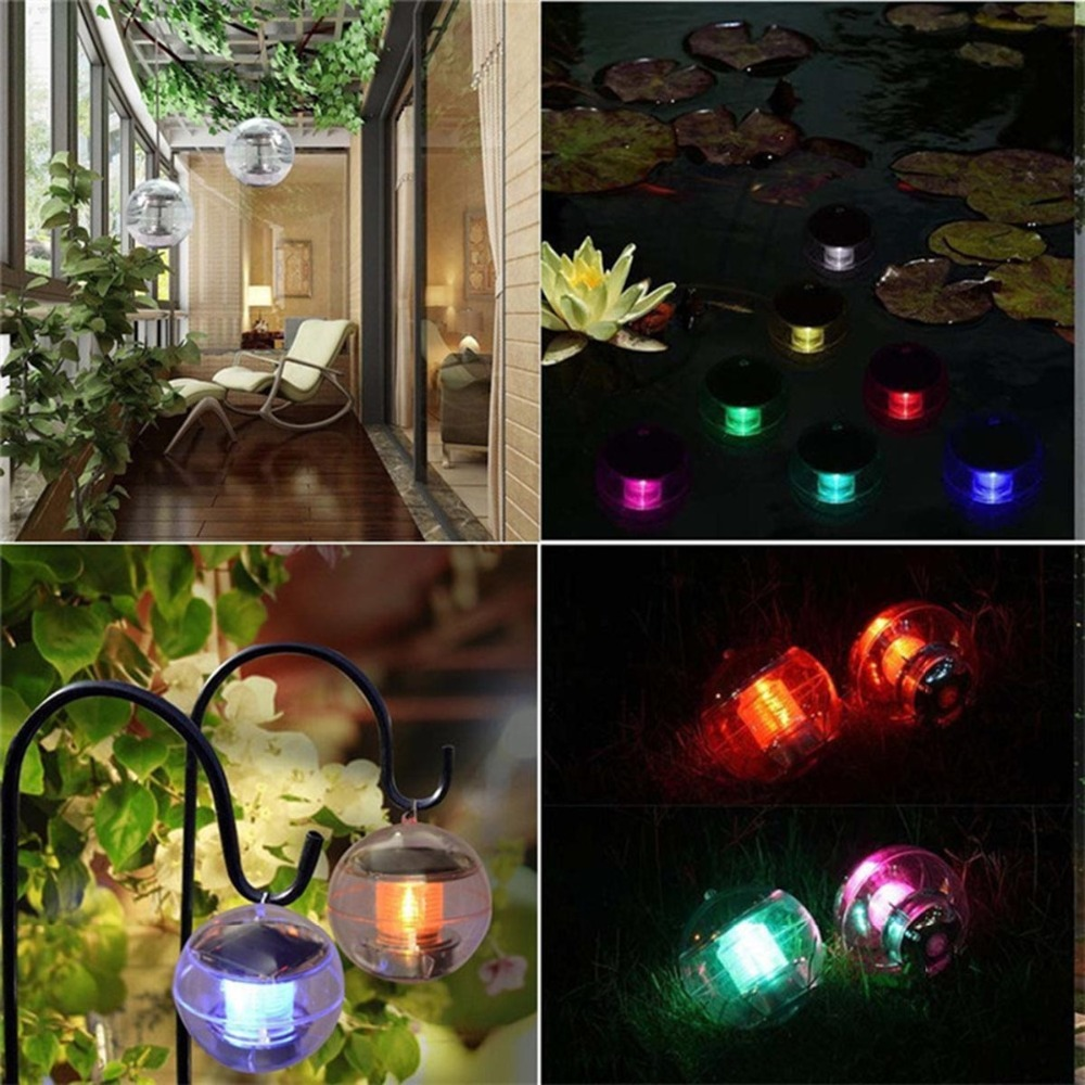 Solar Waterproof Underwater Garden Lights For Pools 7 Colors Changing Pond Fountain Floating Rainbow Night Lights Solar Powered