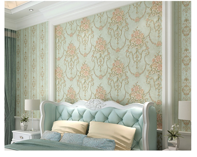 3D тиснением цветок обои цветок Романтический Задний план обоев для Спальня Гостиная фон рабочего стола 3d Домашний Декор