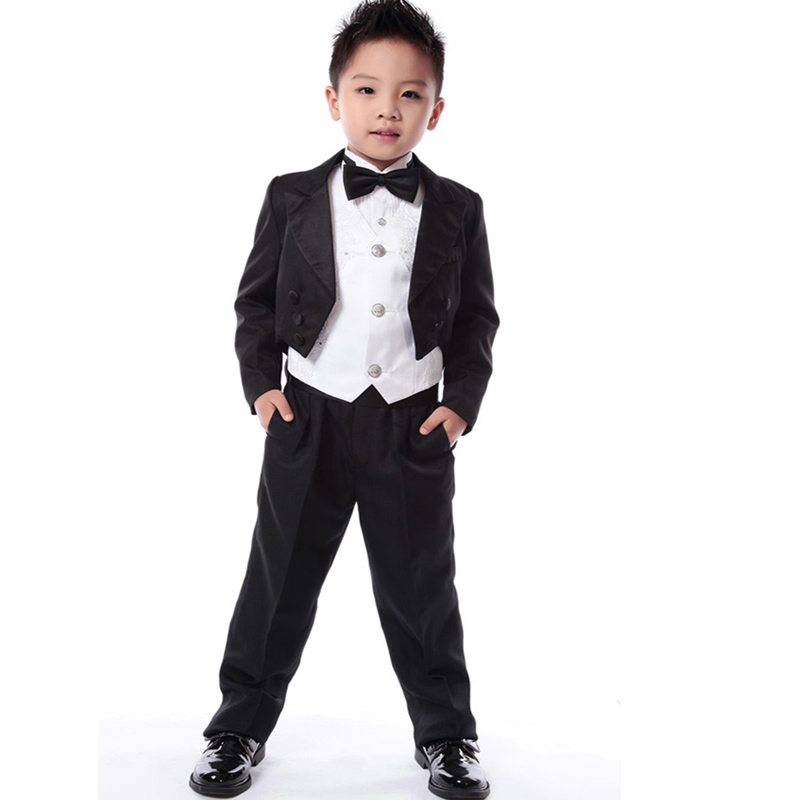 set new winter New Kids Tuxedo Suit Boys Blazers Formal Suits Weddings Children Gentleman Clothes - Hiku House Children's Fashion store