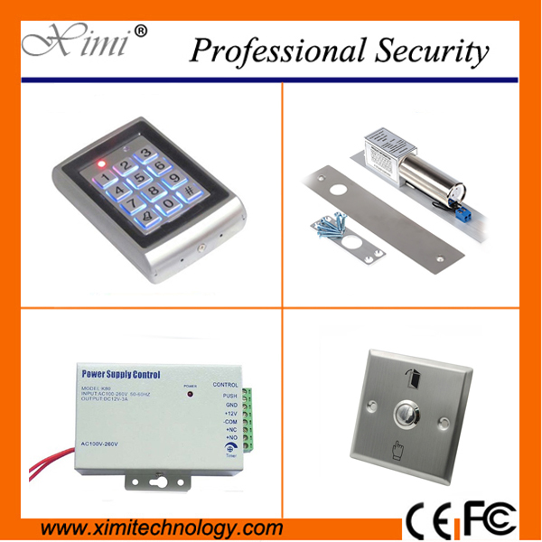 Hot sale 500 card users door access ocntrol without software single door access control system with infrared exit button single door access control system with 125khz rfid card without software door with 180kg 280kg magnetic lock touch exit button