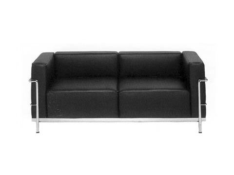 Le Corbusier Sofa LC3 Two Seaters Love Seat 100% Top Grain Leather Premium  Quality