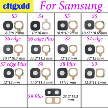 Cltgxdd Achter Camera Glas Lens Cover Ring met Sticker Lijm Voor Samsung Galaxy S3 S4 S5 S6 rand + S7 rand S8 S9 S9 plus(China)