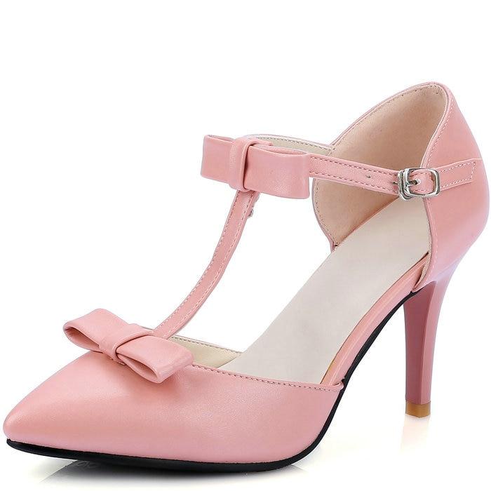 high <font><b>heel</b></font> sandal shoes woman 2016 <font><b>pointed</b></font> <font><b>toe</b></font> cutouts bow tie platform pumps ankle straps <font><b>spring</b></font> <font><b>summer</b></font> <font><b>fall</b></font> <font><b>women</b></font> high <font><b>heels</b></font>