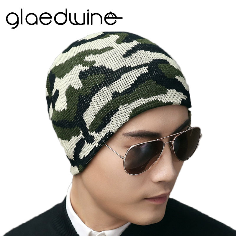 Glaedwine New Arrival Beanies Knitted Hat Men's Winter Hats For Men Caps Gorros Warm Moto Winter Beanie Knit Bonnet Warm Beanies aetrue winter knitted hat beanie men scarf skullies beanies winter hats for women men caps gorras bonnet mask brand hats 2018