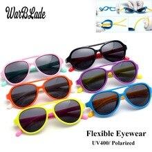 6cf3ec018 WarBLade Polarizada Óculos De Sol Crianças Flexíveis Óculos Moldura  Quadrada UV400 Sun Glasses Oculos de sol