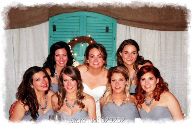 สีเทาเพิร์ลคลัสเตอร์,เจ้าสาวเพิร์ล,สีเทา chunky,เพื่อนเจ้าสาวเครื่องประดับสีเทา,งานแต่งงานเครื่องประดับไข่มุก silver Pearl สร้อยคอ MN012