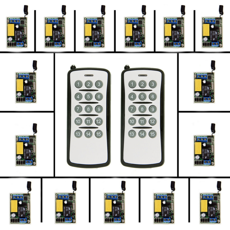 Mini Size 220V 1CH 1CH 10A Wireless Remote Control Switch Relay  Receiver + Transmitter System ,315 / 433.92 Self-lcom access door control system 12v 1ch wireless remote control switch system transmitter receiver mini size 315 433mhz