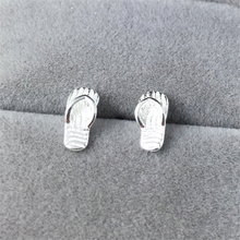 2019 womens earring 925 sterling sliver slippers summer stud earrings cute funny mini brinco free shiping girls ear rings ED860