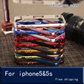 Nuevo case en para iphone 5s case parachoques de aluminio de lujo en para iphone 5 5s cubiertas protector casos de teléfono en el para el iphone 5 5S