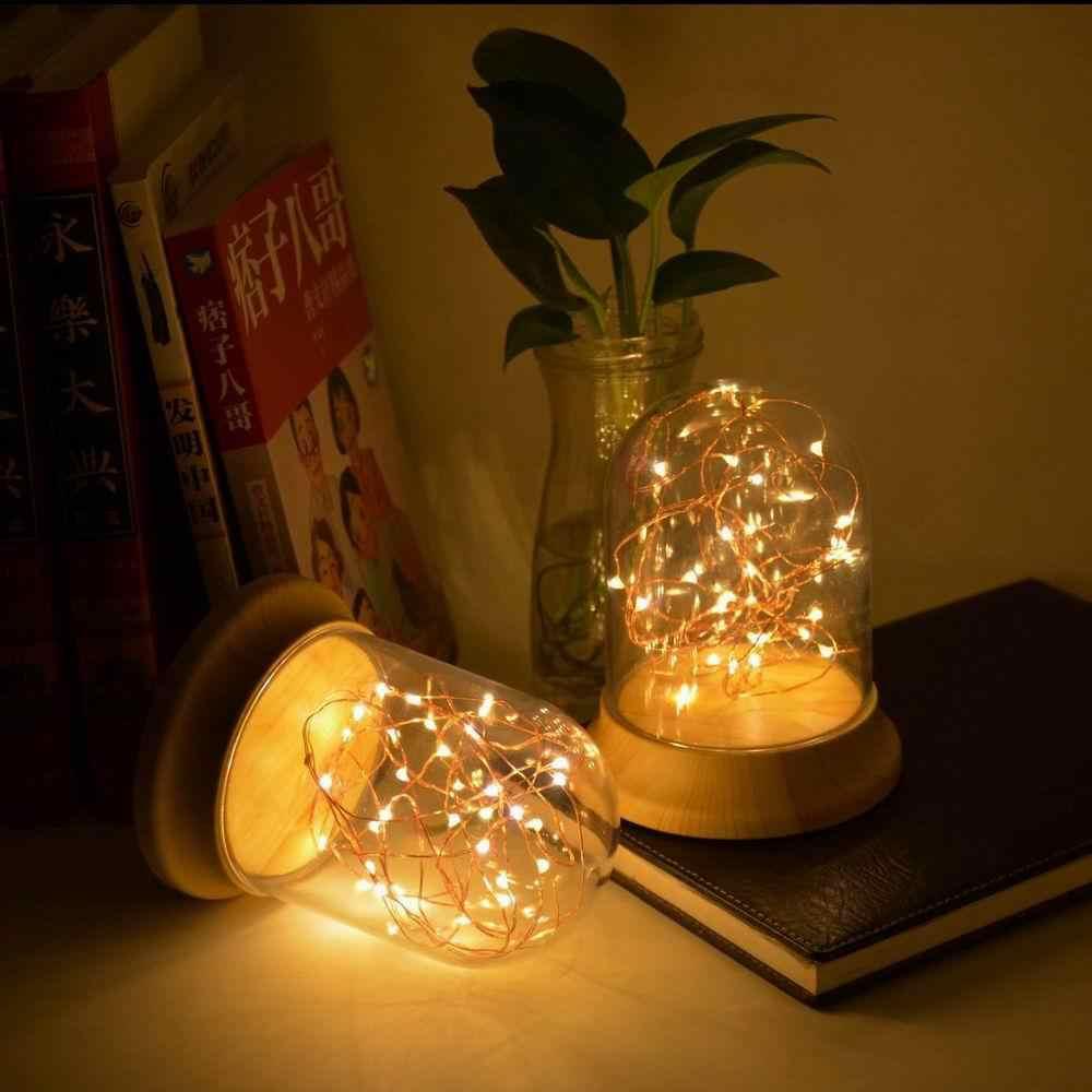 LanLan медная проволока купольная лампа ночник usb зарядка огненные деревья серебряные цветы дерево-зерна пьедестал украшение дома подарок