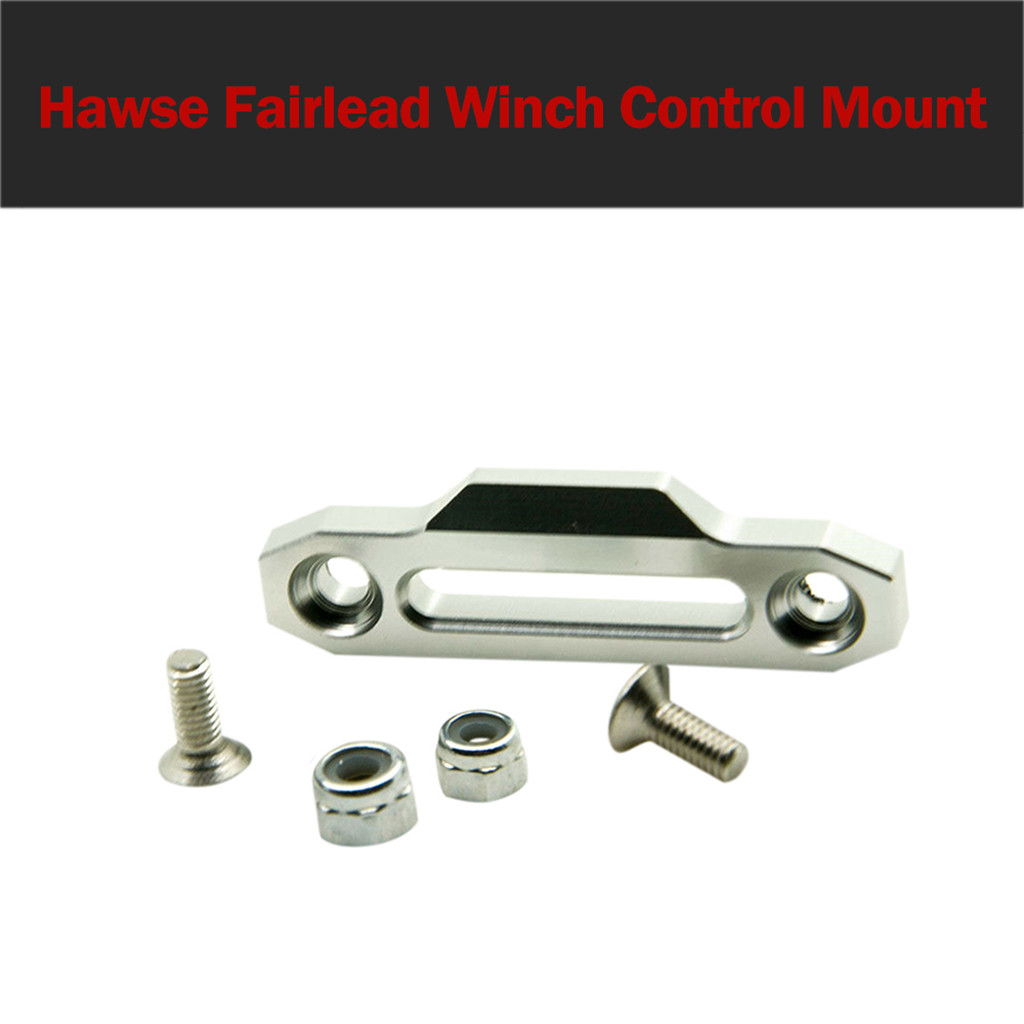 Alloy Metal Hawse Fairlead Winch Control Mount For RC 4WD D90 1/10 RC Crawler practical and convenient Remote control toy parts-in Parts & Accessories from Toys & Hobbies