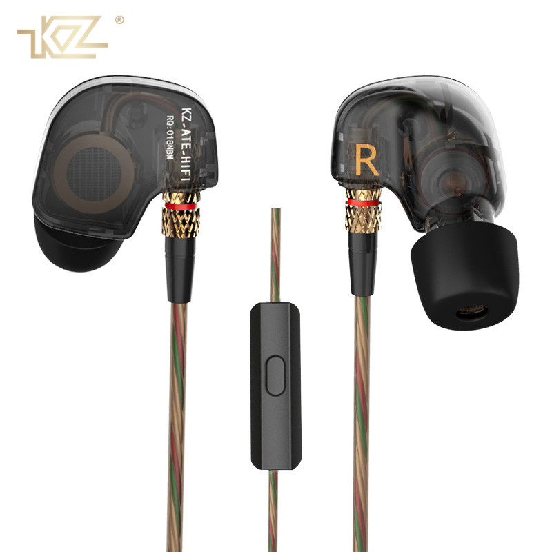 все цены на KZ ATES ATE ATR HD9 Copper Driver HiFi Sport Earphones In Ear Earphone For Running With Microphone for Xiaomi Phone 7 8 Plus онлайн
