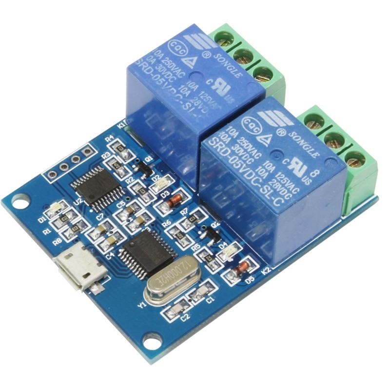 цена на LCUS-2 type 2 CHANNEL USB relay module USB Intelligent Control Switch