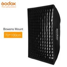 """Godox 29 """"x 40"""" 70x100cm caja de luz suave de rejilla panal con montura Bowens para luz de Flash estroboscópica de estudio DE300 DE400 SK300"""