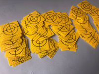 NEW 100PCS YELLOW REFLECTOR SHEET 40X40MM REFLECTIVE TARGET FOR TOTAL STATION