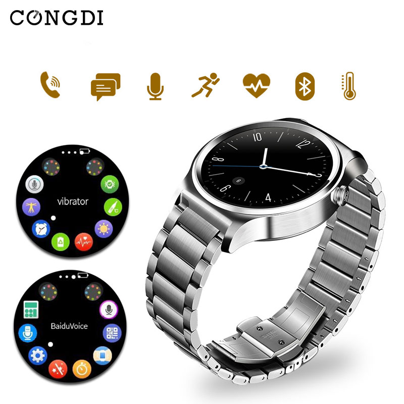Wristband Men Condi GW01 Smart Watch with Music Remote Heart Rate Dial Message WiFi Bluetooth 4.0 Watches Phone for Android iOS