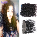 Malaysian Water Wave Virgin Hair With Frontal Closure 13x4 Ear To Ear Lace Frontal Closure With Bundles Human Hair With Closure