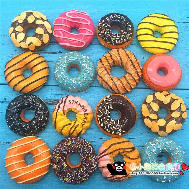 Лидер продаж Европейский пончики пончик клубника шоколадное печенье Магниты на холодильник моделирование Еда холодильник магнитная Наклейки