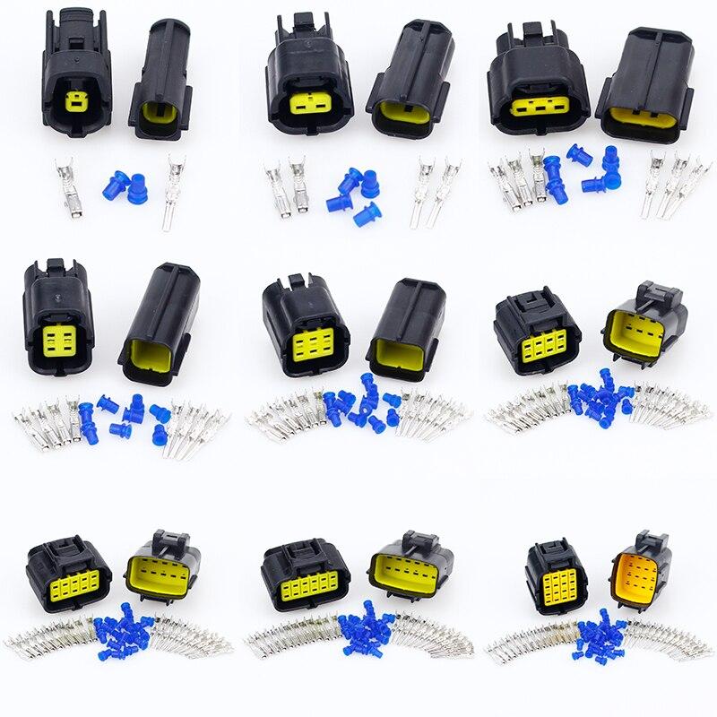1 Sets Auto 4 Pin Way Wasserdichte Elektrischer Draht-Anschluss-Stecker Sealed