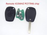 高品質のリモートキーカードのはめあいルノークリオmegane 3ボタンで433 mhz 46チップが必要なプログラマ